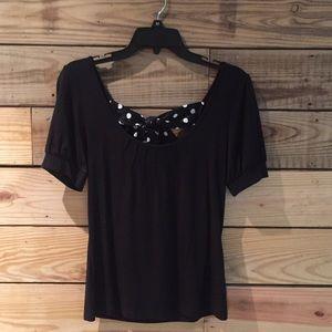 Women's black Loft top, size small